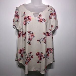 Torrid Floral Short Sleeve Tunic Size 1X